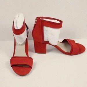 NWT Via Bleu Red Leather Priscilla Cuff Sandals 7